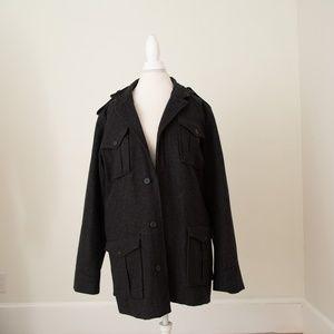 Men's Dark Gray Pea coat